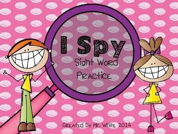 I Spy With My Little Eye... Sight Words!