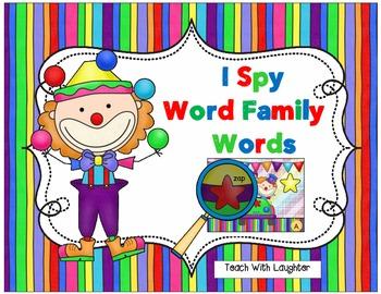 I Spy Word Family Words
