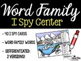 I Spy Word Family Words Literacy Center - Winter Edition