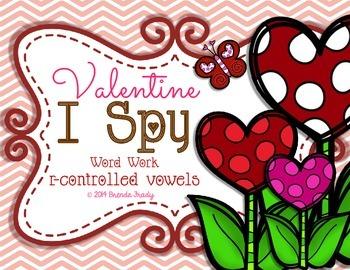 I Spy Word Work BOSSY R ~Valentine Edition~