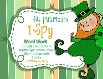I Spy Word Work  ~St. Patrick's Edition~