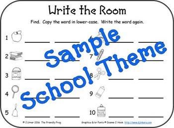 I-Spy Write-the-Room Customize Your Own Activity: Basic Set