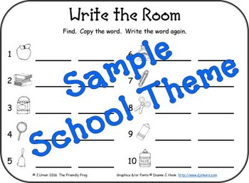 I-Spy Write-the-Room Customize Your Own Activity: Set 1