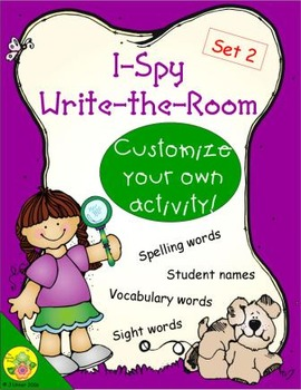 I-Spy Write-the-Room Customize Your Own Activity: Set 2
