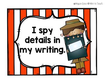 I Spy Writing Goals Mini Posters