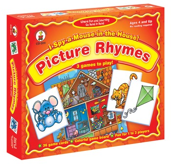 I Spy a Mouse in the House Picture Rhymes Game Grades PK-1 3111