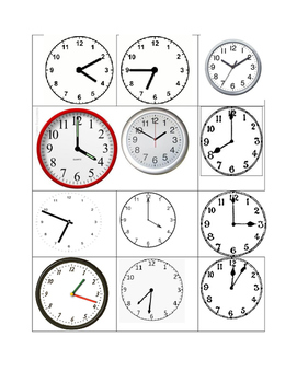 I Spy a Time! Telling Time!