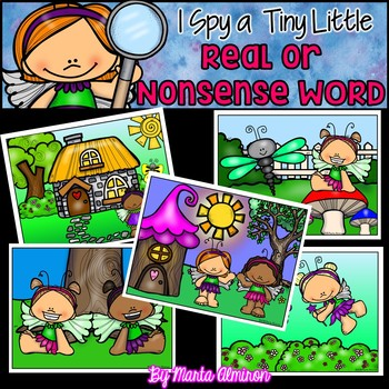 I Spy a Tiny Little REAL or NONSENSE WORD! {Fairy Garden}