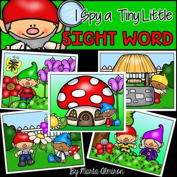 I Spy a Tiny Little SIGHT WORD! {GNOMES}