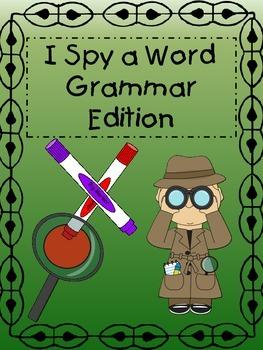 I Spy a Word:  Grammar Edition