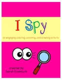 I Spy - a engaging coloring, counting, and listening activity