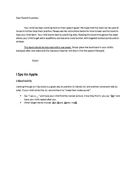 I Spy an Apple Speech & Fluency Activities