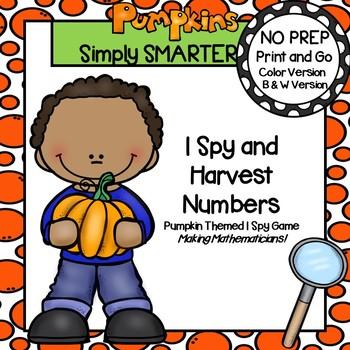 I Spy and Harvest Numbers:  NO PREP Number I Spy Game (0-11)