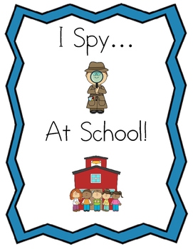 "Early Learner ""I Spy"" at School Color Matching/ID Adapted Book"