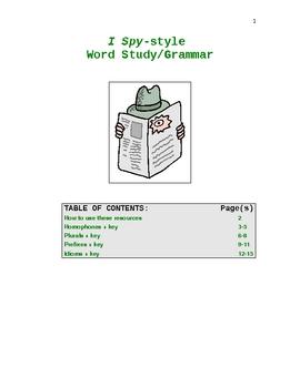 I Spy-style Word Study and Grammar