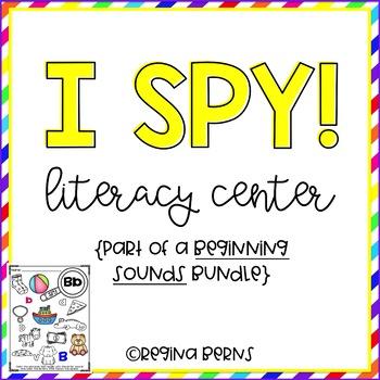 I Spy the Letter Sound Literacy Center {Beginning Sounds}