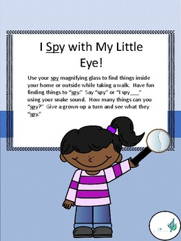 Phonology (Articulation) SP cluster/Oral Language-I Spy with My Little Eye Game
