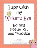 I Spy with my Writers Eye editing poster kit and practice