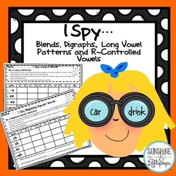 Phonics Blends,Digraphs,Long Vowel patterns & R-Controlled Vowels