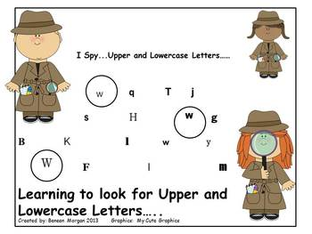 I Spy....Upper and Lowercase Letters