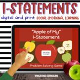 I-Statement Conflict Resolution Problem Solving GAME Digital + Printable