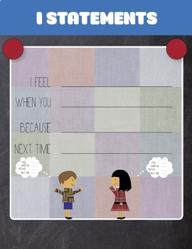 Conflict Resolution - I Statements Poster
