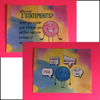 I Statements Conflict Resolution Mini Flipbook and Bookmarks
