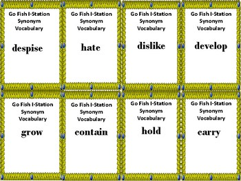 I-Station Vocabulary Synonyms Go Fish Game
