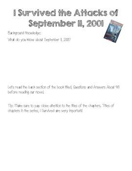 I Survived Attacks September 11 Literature Circle Vocabulary Rating Extension