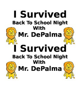 I Survived Back to School Night (Certificate)