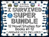 I Survived SUPER BUNDLE (Tarshis) 12 Novel Studies / Comprehension (366 pages)