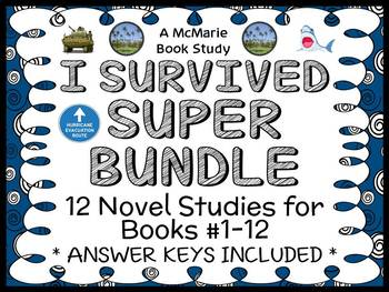 I Survived SUPER BUNDLE (Tarshis) 12 Novel Studies / Comprehension (366 pages)
