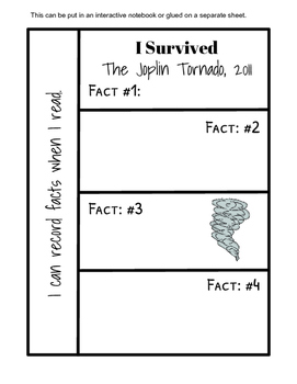 I Survived...Chapter Book Response Sheets (5 books 15 responses each)