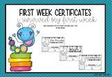 First Week Certificates (I Survived) #ausbts19 #ringin2019
