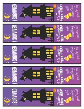 I Survived Halloween Brag Tags and Bookmarks