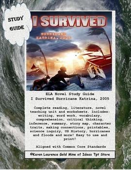 I Survived Hurricane Katrina 2005 ELA Book Study Guide Printable