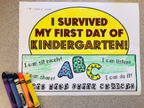 I Survived My First Day of Kindergarten Hat