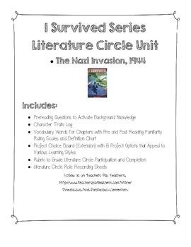 I Survived Nazi Invasion Literature Circle Jobs Vocabulary Rating Rubric Jobs