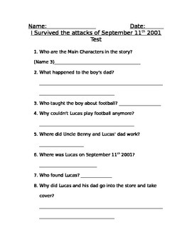 I Survived September 11th Test