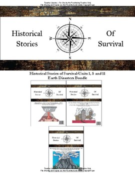I Survived Study Earth Disasters Bundle Units 1, 5 and 11 - Teacher License