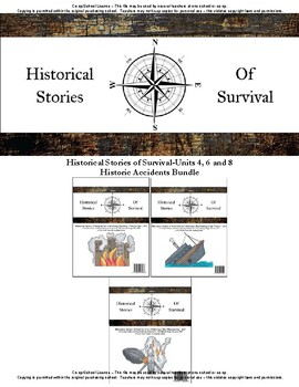 I Survived Study Historic Accidents Bundle Units 4, 6 and 8-Co-op/School License