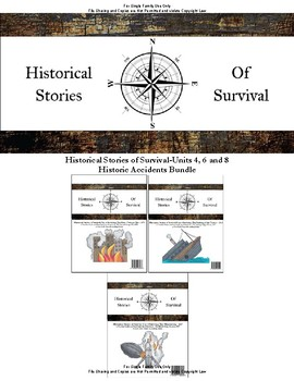 I Survived Study Historic Accidents Bundle Units 4, 6 and 8 - Family License
