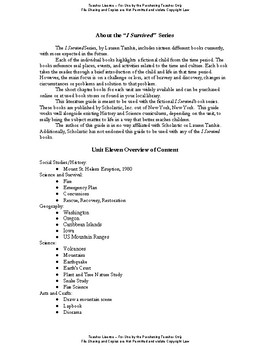 I Survived Study Unit 11 Surviving The Eruption of Mount St. Helens-1980-Teacher