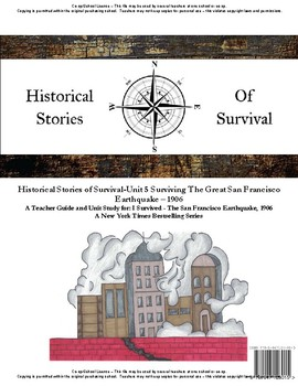 I Survived Study Unit 5 Surviving The Great San Francisco Earthquake 1906 School
