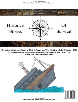 I Survived Study Unit 6 Surviving The Sinking of the Titanic 1912-Family License
