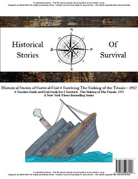I Survived Study Unit 6 Surviving The Sinking of the Titanic 1912 School License