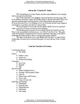 I Survived Study Unit 6 Surviving The Sinking of the Titanic 1912-Teacher File