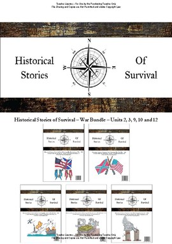 I Survived Study War Bundle Units 2,3,9,10 and 12 - Teacher License