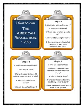 I Survived THE AMERICAN REVOLUTION, 1776  - Discussion Cards