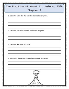 I Survived THE ERUPTION OF MOUNT ST. HELENS, 1980 Comprehension & Text Evidence